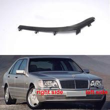 ل 1995 1998 بنز W140 S320 S350 S500 S600 العلوي المطاط ختم الشريط تقليم كشافات شريط زخرفي