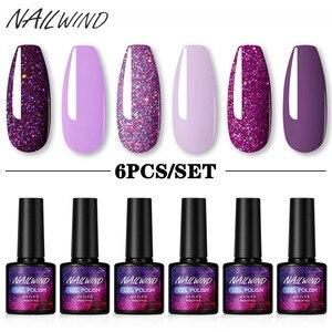 NAILWIND Gel Polish Set 4/6Pcs Hybrid Varnish Soak Off UV Gel LED Semi Permanent All For Manicure Nail Art Gel Polish Kit
