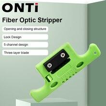 ONTi Faser Optische Kabel Band Stripper Miller MSAT 5 Lose Rohr Puffer Mid Spanne Zugang Werkzeug 1,9mm zu 3,0mm Austauschbare Klinge