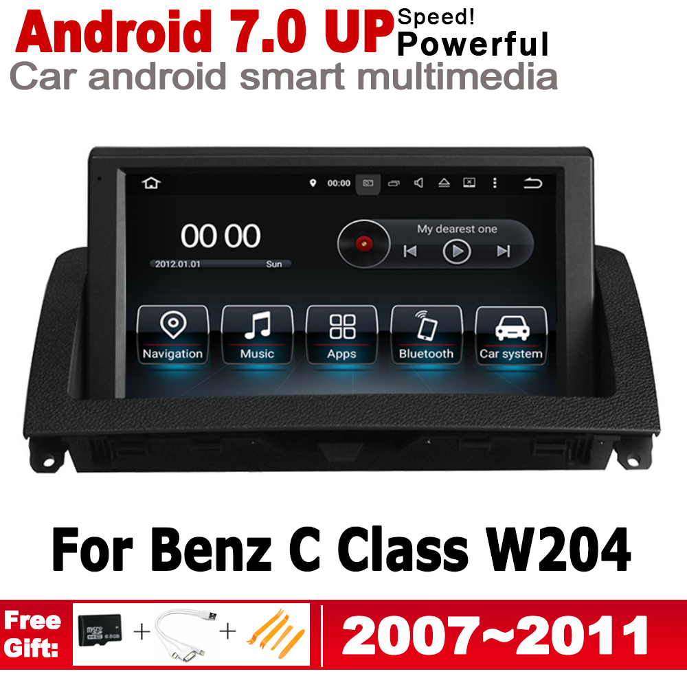 IPS Android car multimedia player <font><b>gps</b></font> navigation for Mecerdes Benz C Class <font><b>W204</b></font> 2007 NTG original style HD screen 2GB+16GB WiFi image