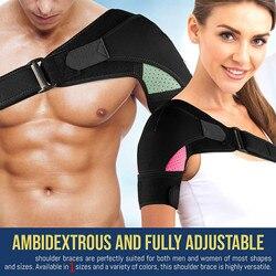 Braço esquerdo ou direito ombro cinta masculino e feminino suporte de compressão para torção manguito rotador e outras lesões ombro cinta