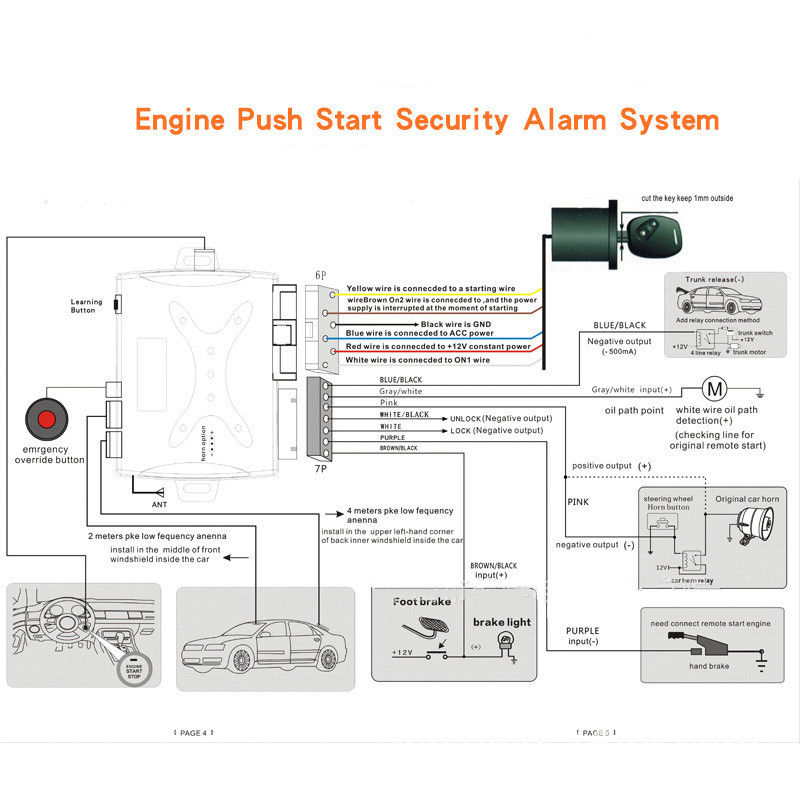 car keyless entry wiring diagram auto keyless entry alarm pke system remote engine start push start  keyless entry alarm pke system remote
