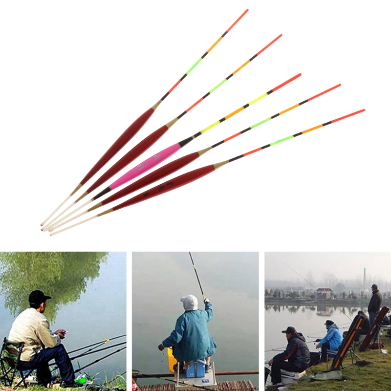 5 Pcs Fishing Float Night Luminuous Tackle Glow Stick Wood Accessories With Lead Y51D in Fishing Float from Sports Entertainment