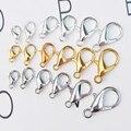 Застежка-карабин для ювелирных изделий, крючки для изготовления ожерелий, браслетов, цепочек, аксессуары «сделай сам», 50 шт./лот