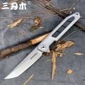 Sanrenmu 1162 карманный складной нож 14C28N лезвие из нержавеющей стали Флиппер шарикоподшипник открытый кемпинг инструмент выживания EDC нож