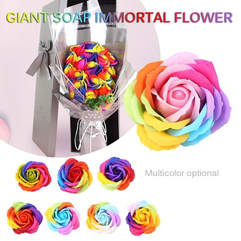 6 цветов, Подарочная коробка, искусственное Розовое Мыло, цветочный подарок, цветок, лепесток, День Святого Валентина, декор для отеля, вечерние, яркие, красивые