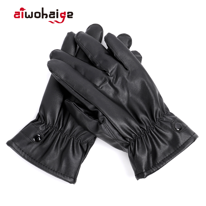 2019 New High Quality Women's Gloves Winter Long Gloves Leather Female Fleece-Lined Touch Screen Gloves Hand Warmer Riding
