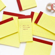 50 Sheets Kawaii Cute Yellow Paper Grid List Small Notebook Diary Agenda Notepad Planner Weekly Book Travel School Supplies n920