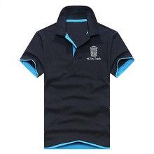 2019 verano hombres Polo camisa marca ropa moda hombres negocios Casual Hombre Polo camisa de manga corta transpirable Polo S 3XL