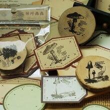 Sellos de madera Vintage de bosque de animales, sello de goma para manualidades, papelería, libro de recortes, diario, decoración de letras