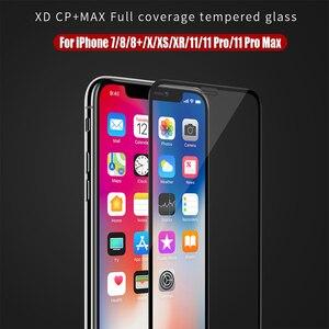 Image 1 - NILLKIN XD + cam ekran koruyucu iPhone 11 Pro XR XS Max SE 8 artı 3D güvenlik koruyucu temperli cam iPhone XS için cam