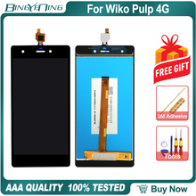 New Original For Wiko Pulp 4G LCD&Touch screen Digitizer with frame display Screen module accessories Assembly Replacement Tools