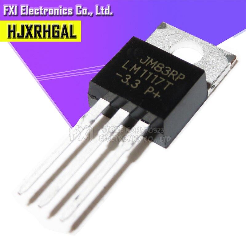 10PCS LM1117T-3.3 LM1117-3.3 LM1117T 3.3V TO220 LM New Original