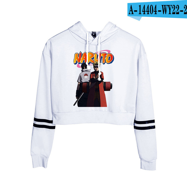 Now United Crop Top Hoodies Harajuku Japanese Anime Uzumaki Printed Hoodie Women Streetwear Fashion Cropped Sweatshirt Coat 9