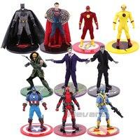 MEZCO Batman Joker Green Arrow Deadpool Spiderman Frankenstein Captain America Superman The Flash Zoom Action Figure Toy