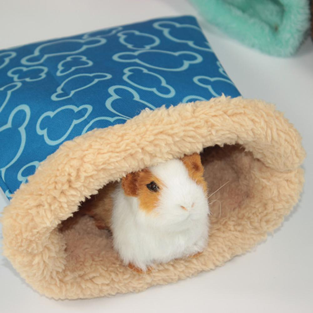 New Pet Guinea Pig Sack Hamster Nest Waterproof Windproof Small Pet Hedgehog Squirrel Hamster Bed Guinea Pig Sleeping Bag Warm