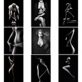 Sexy Nude Black and White Women Canvas Painting Cuadros Wall Art Poster Prints Wall Art Pictures for Living Room Home Decor