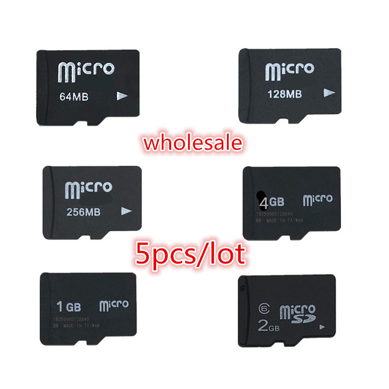 Big Promotion!!! 5pcs/lot TF Card 2GB 1GB 512MB 256MB 128MB 64MB Micro Card SD Card 4GB 8GB TransFlash Card Memory Card