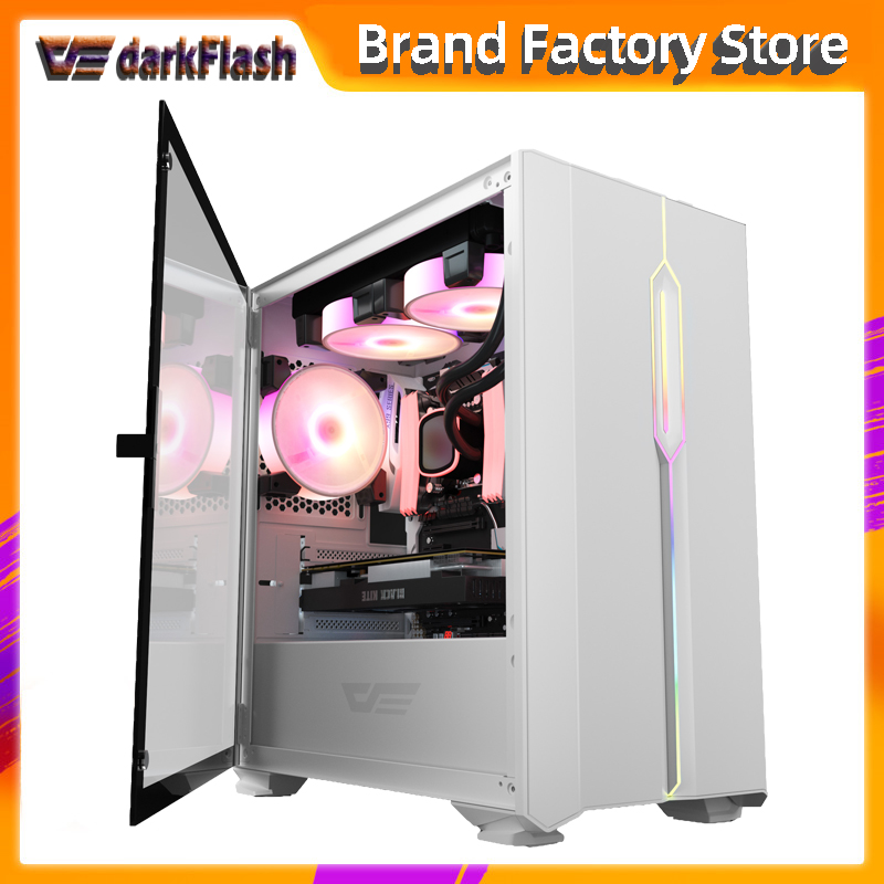Aigo DLM23 desktop computer case gabinete pc gamer completo small mini matx/itx htpc chasis Tempered glass gaming pc case led|Computer Cases & Towers|   - AliExpress