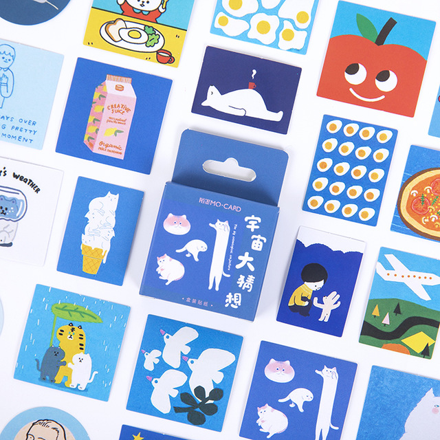 46 Pcs/box Universe Conjecture Bullet Journal Decorative Stationery Mini Stickers Set Scrapbooking DIY Diary Album Stick Lable