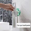 1 шт. пластиковый держатель для зубной пасты и для зубной щетки Стойка для хранения бритва зубная щетка диспенсер органайзер для ванной комн...