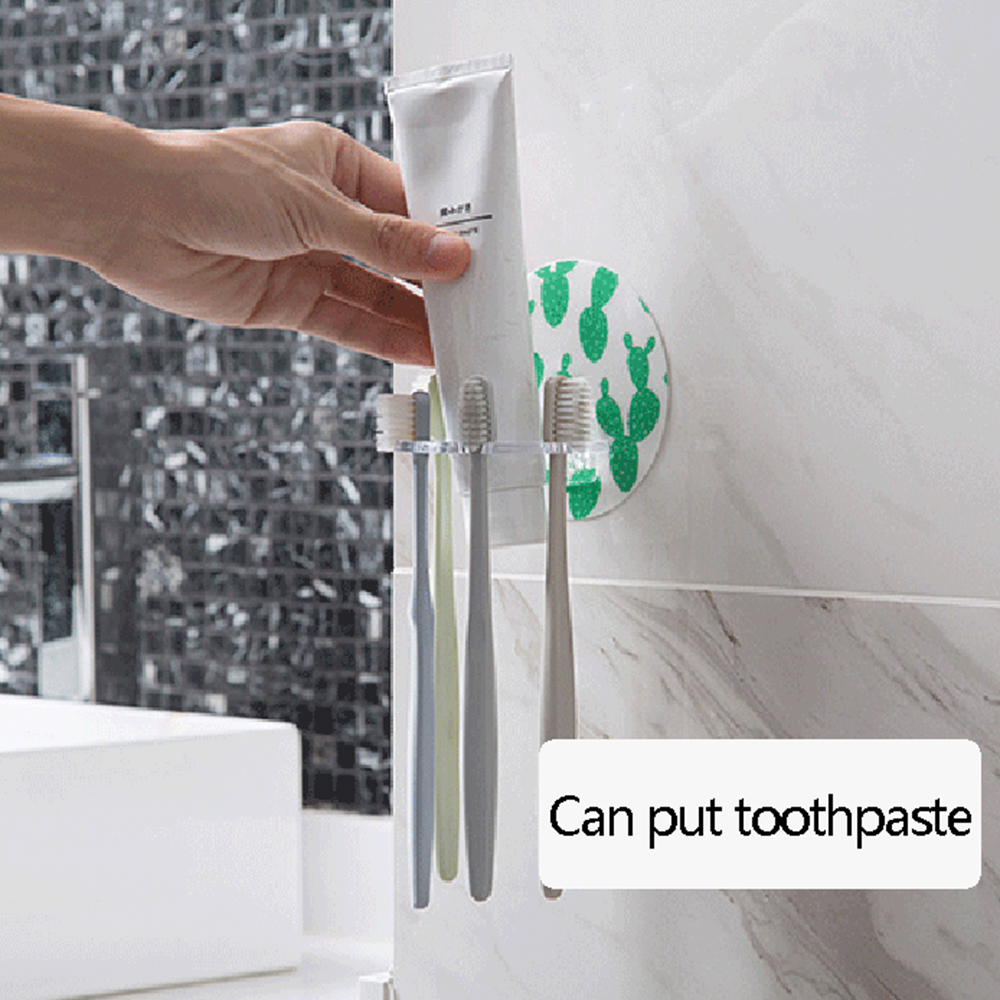 1PC Plastic Toothbrush Holder Toothpaste Storage Rack Shaver Tooth Brush Dispenser Bathroom Organizer Accessories Tools