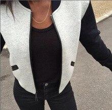 New Womens Ladies Long Sleeve Casual Blazer Suit Zipper Jacket Coat Outwear