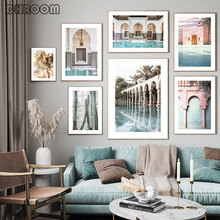 Islamic Architecture Poster Islamic Canvas Painting Plant Wall Art Print Picture Nordic Travel Landscape Poster Home Decor