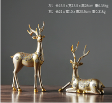 2 шт статуэтка оленя из смолы в европейском стиле