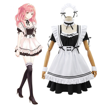 Anime Cosplay Outfits Uniform Maid-Dress Loli Plus-Size Costumes Black Women Stage Japanese