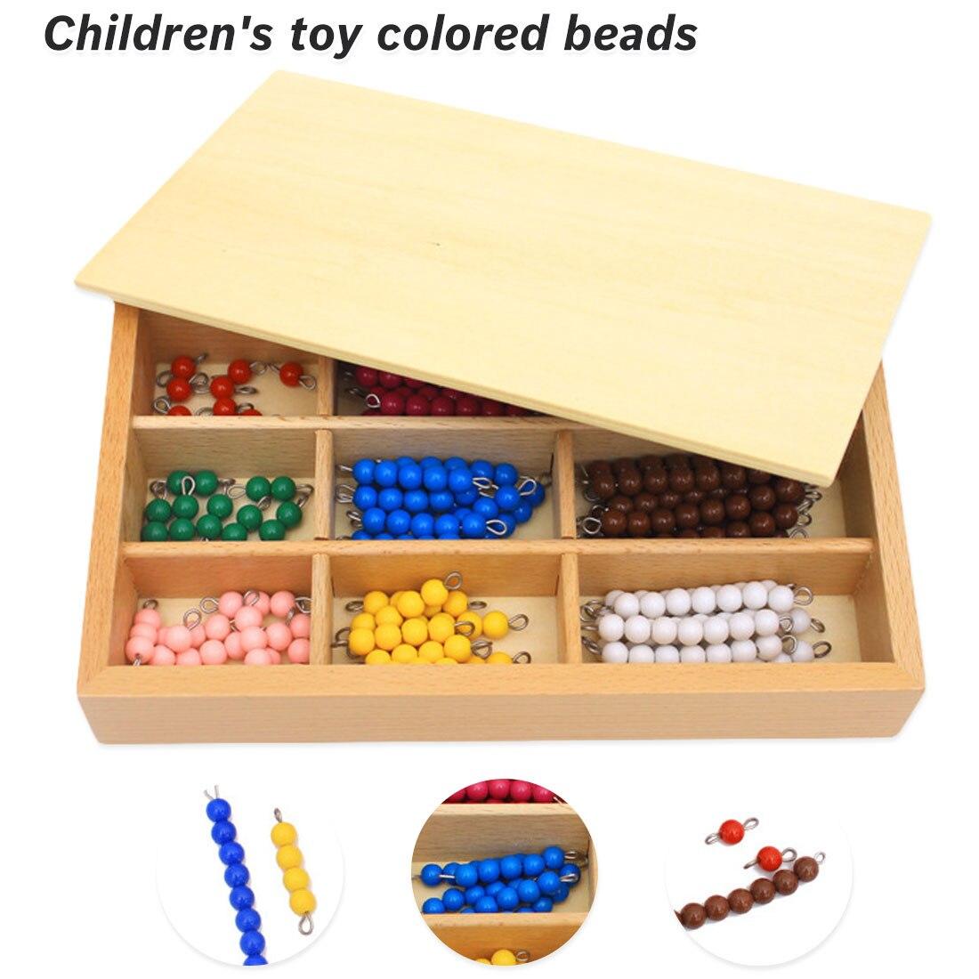 Jouets d'enseignement des mathématiques en bois précoce Multiplication et Division jouets mathématiques perles conseil jouets d'apprentissage
