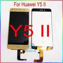 Tela de lcd para huawei y5 ii, display de substituição para tela cun u29 l21 l01 l02 l03 l22 l23 l33 com touch peças de reparo