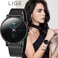 LIGE Neue Frauen Luxus Marke Uhr Einfache Quarz Dame Wasserdichte Armbanduhr Weibliche Mode Casual Uhren Uhr reloj mujer 2020-in Damenuhren aus Uhren bei