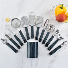 13 pçs conjunto de gadgets cozinha descascador cenoura raladores de queijo para batata peixe escalas raspagem abridor de lata ovo batedor cozinha accessotools
