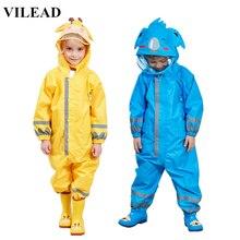 VILEAD Cute Animal Baby Jumpsuits Rain Coat Waterproof Polyester Raincoat Children Windproof Poncho for Kindergarten Student