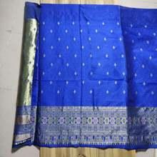 Роскошный жаккардовый тканый синий хаки Дамаск 90 см * 160 тканая
