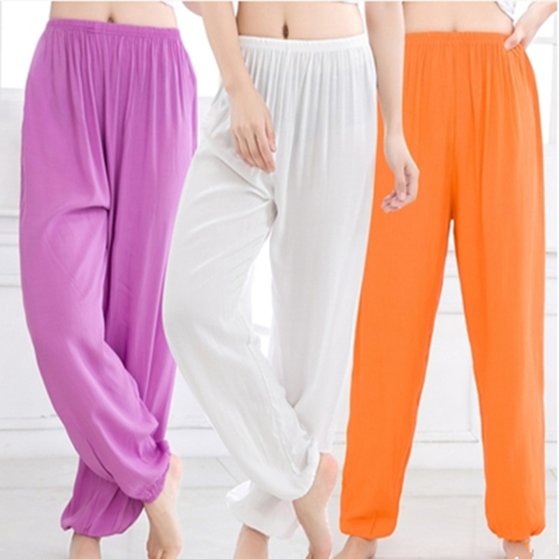15 Colors 3XL Plus Size Men Women Yoga Pants Tai Chi Mosquito Pants Dance High Waist Korean Gym Beach Wear Workout Sport Clothes image