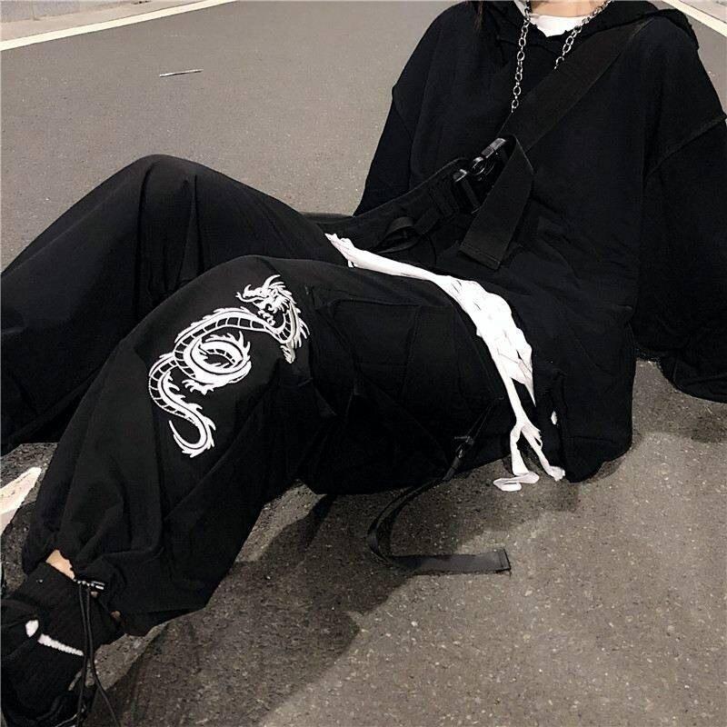 NiceMix Women Camouflage Cargo Pants Streetwear Casual High Street Pants Military Pants Females Hip Hop Pants Autumn Loose Pants