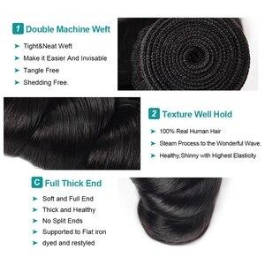 Image 2 - 100% человеческие волосы для наращивания, не Реми, 3 пряди