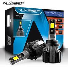 NOVSIGHT – ampoules antibrouillard pour phares de voiture 12v, H4 H1 H3 H7 H11 H8 H9 9005 9006 9007 9012 72W 10000LM 6000K