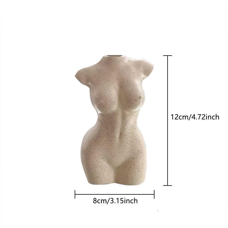 Body Art Design แจกันดอกไม้หญิง Nude ประติมากรรมดอกไม้แจกันสร้างสรรค์งานอดิเรกแจกันเครื่องปลูกบ้านอุปกรณ์เสริมประดับ