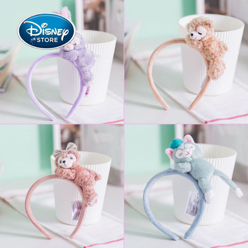 Disney Ears 3D Duffy Bear Shirley Stella Doll Headband Plush Hair Accessories Hairpin Girl Beauty Toy Headband Birthday Gifts