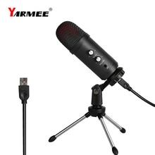 Professionele Usb Microfone Condensator Microfoon Voor Laptop Karaoke Zingen Streaming Gaming Podcast Studio Opname Mikrofon