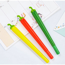 New Korean creative and lovely stationery 0.5mm black water pen signature chili medium