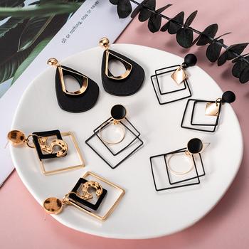 Moda koreańskie kolczyki oświadczenie wiszące kolczyki geometryczne akrylowe kolczyki dla kobiet 2020 trendy kolczyki kolczyki biżuteria tanie i dobre opinie Ze stopu miedzi CN (pochodzenie) Fashion earrings Spadek kolczyki GEOMETRIC Kobiety Korean Earrings Statement Earrings Drop Earrings