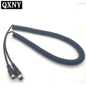 Image 1 - 4Pin Luftfahrt Kopf zu Luftfahrt Kopf Kabel Verlängerung Kabel Kamera Video Ausrüstung 5m Frühling Draht Wasserdicht