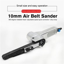 3/8 Air Belt Sander Air Angle Grinding Machine with Sanding Belts for Air Compressor Sanding Pneumatic Tool Set 10/20mm