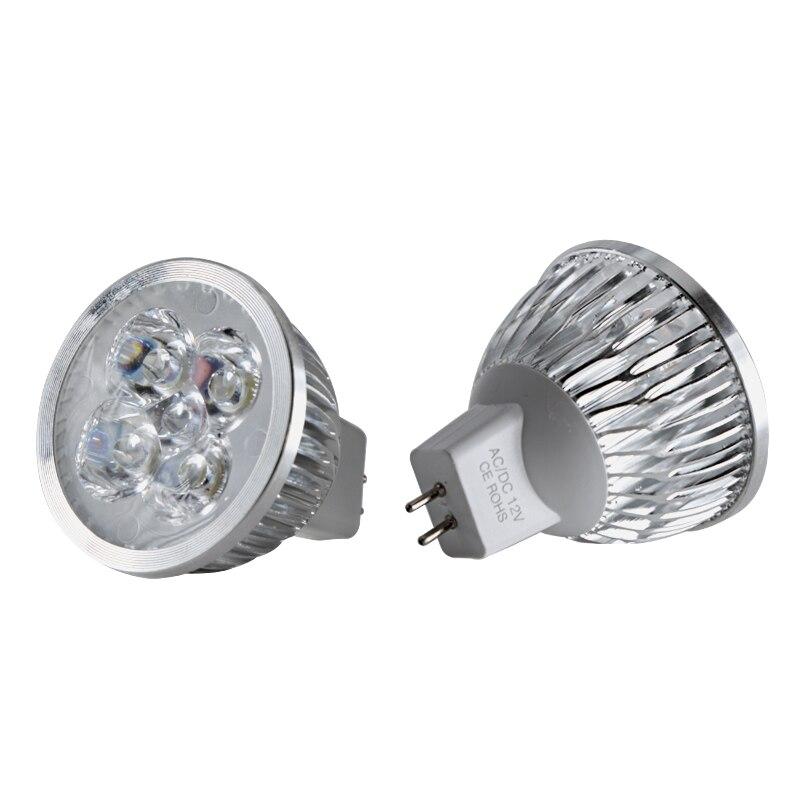 1pc bombilla led mr16 12v 24v 4W Aluminum spotlight bulb high power warm white energy saving lamp 12 24 v volt ceiling lighting in LED Bulbs Tubes from Lights Lighting