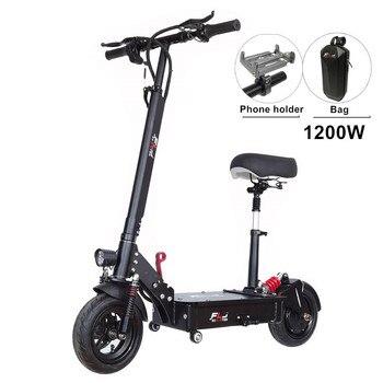 Mejor 1200W bicicleta eléctrica con 80-120kms de largo alcance eléctrico scooter aerotabla patineta Skate para adultos mujer estudiante bicicleta