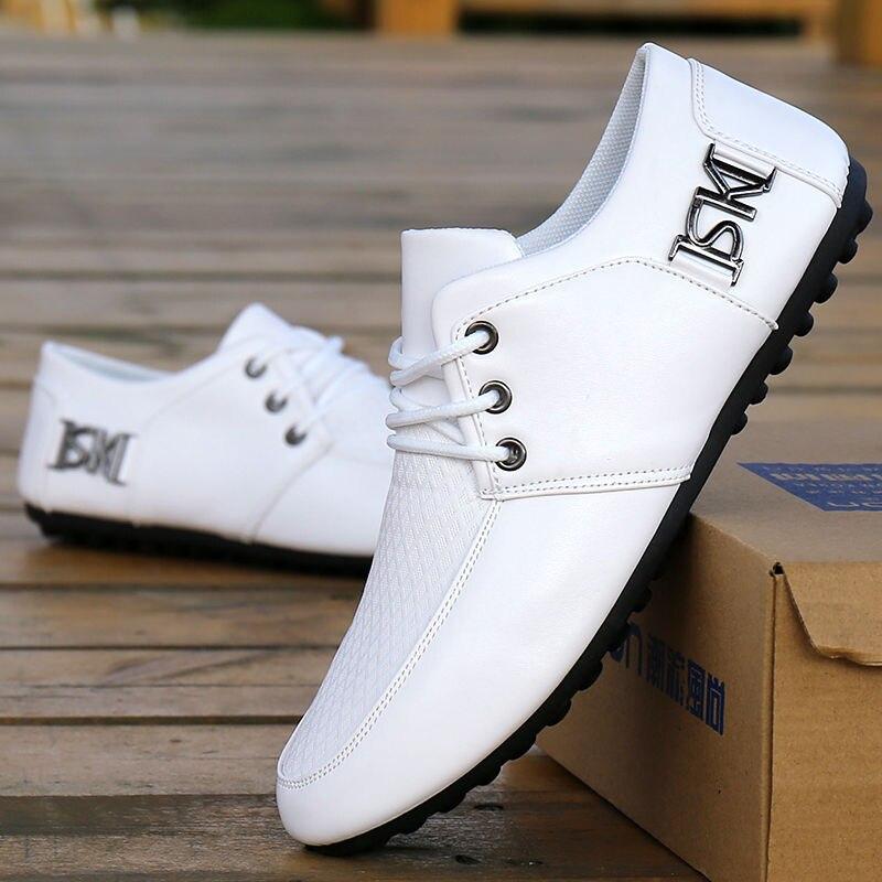 Walking Sports Driving Shoes Men's Flat Shoes Non-Slip Casual Shoes Italian Flat Shoes 2020 Korean Men's Pea Soft-Soled Shoes